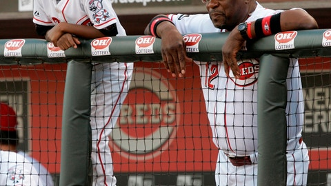 "<p>               FILE - In this Aug. 7, 2008, file photo, Cincinnati Reds manager Dusty Baker, left, watches a baseball game against the Houston Astros in the dugout with son Darren in Cincinnati. Darren Baker considers his father the perfect person to take over the Houston Astros, and the college second baseman insists that's from a baseball player perspective not just as a proud son. ""I think it's a perfect fit,"" Darren said. ""Who else to steer a ship or right a ship than my dad? I don't just say that because it's my dad, I genuinely believe it. Too much integrity, he's the greatest man I've ever met, on and off the field. I think it's a match made in heaven, I think it's fate. Seeing him in an Astros jersey, it's going to be a crazy experience."" (AP Photo/Al Behrman, File)             </p>"