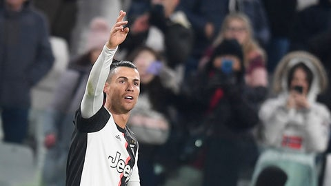 <p>               Juventus' Cristiano Ronaldo celebrates after scoring against Parma during an Italian Serie A Soccer match at the Allianz Stadium in Torino, Italy, Sunday, Jan. 19, 2020. (Fabio Ferrari/LaPresse via AP)             </p>