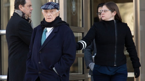 <p>               Jose Margulies, center, leaves federal court following his sentencing, Tuesday, Jan. 21, 2020, in the Brooklyn borough New York. A federal judge in Brooklyn sentenced Brazilian broadcast executive Margulies to two years' probation on Tuesday for acting as an intermediary in a scheme to exchange bribes for the media rights to South American soccer tournaments. (AP Photo/Mary Altaffer)             </p>