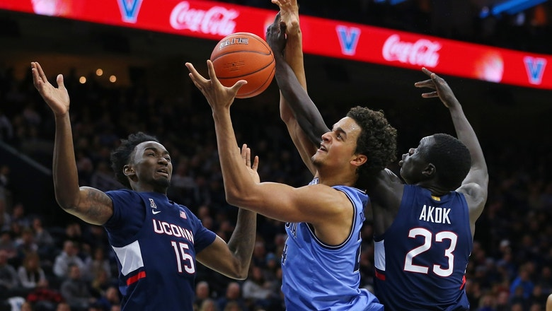 No. 14 Villanova avoids upset, tops UConn 61-55 behind Jermaine Samuels' big second half