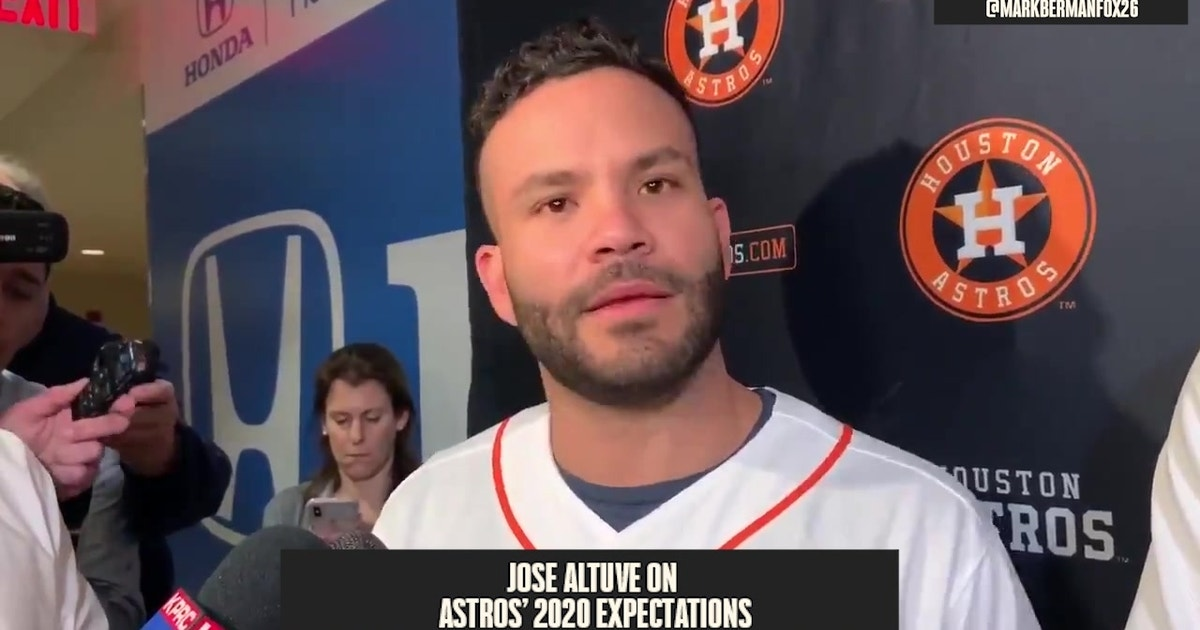 Jose Altuve addresses Astros controversy: 'We're gonna be in the World Series again' in 2020