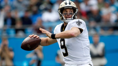 <p>               New Orleans Saints quarterback Drew Brees (9) passes against the Carolina Panthers during the first half of an NFL football game in Charlotte, N.C., Sunday, Dec. 29, 2019. (AP Photo/Brian Blanco)             </p>
