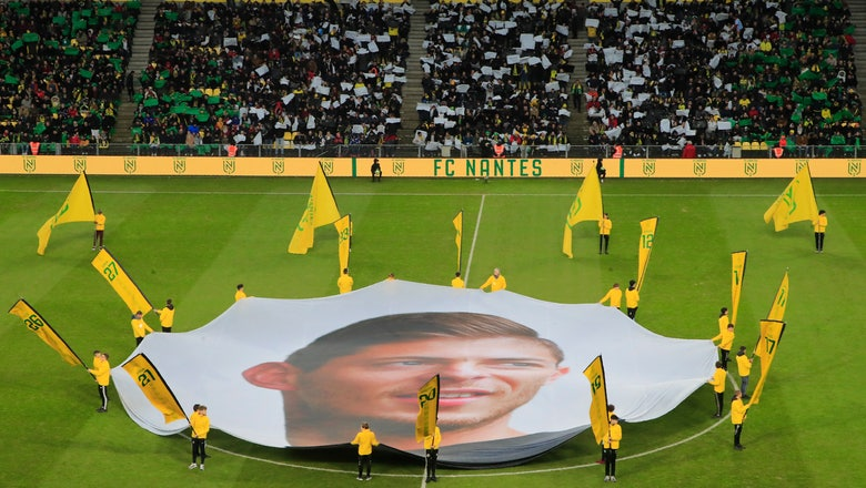 Fans pay an emotional tribute to Sala, a year after he died