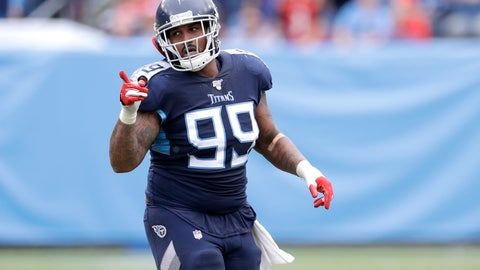 <p>               FILE — In this Oct. 27, 2019, file photo, Tennessee Titans defensive end Jurrell Casey plays against the Tampa Bay Buccaneers in an NFL football game in Nashville, Tenn. The four-time Pro Bowl defensive lineman turned in one of the Titans' best playoff performances to put them into the AFC championship game against the Kansas City Chiefs. (AP Photo/James Kenney, File)             </p>