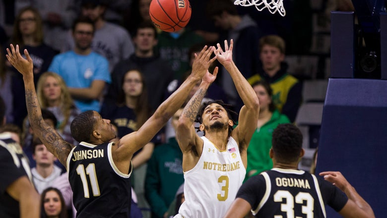 Gibbs, Mooney and bench propel Irish past Deacons, 90-80