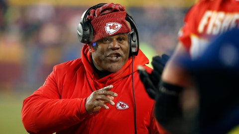 <p>               FILE - In this Jan. 20, 2019, file photo, Kansas City Chiefs offensive coordinator Eric Bieniemy gestures during the second half of the AFC Championship NFL football game, in Kansas City, Mo. The Browns are interviewing Chiefs offensive coordinator Eric Bieniemy Friday, Jan. 3, 2010, in Kansas City for their head coaching vacancy, the club announced.(AP Photo/Charlie Riedel, File)             </p>