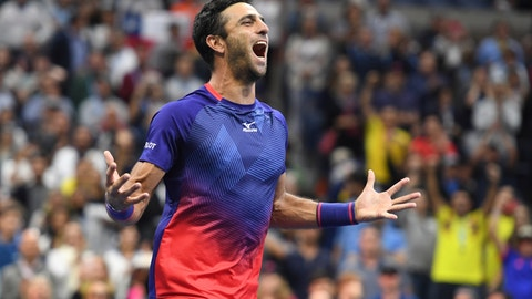 <p>               FILE - In this Sept. 6, 2019 file photo, Colombia's Robert Farah reacts after winning the men's doubles final with partner Juan Sebastian Cabal against Marcel Granollers, of Spain, and Horacio Zeballos, of Argentina, during the final match of the U.S. Open tennis championships, in New York. On Tuesday, Jan. 14, 2020, Farah tweeted that he has tested positive for a banned substance and has withdrawn from the Australian Open. (AP Photo/Sarah Stier, File)             </p>