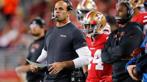 <p>               FILE - In this Dec. 21, 2019, file photo, San Francisco 49ers defensive coordinator Robert Saleh watches during the first half of the team's NFL football game against the Los Angeles Rams in Santa Clara, Calif. The Kansas City Chiefs have perhaps the most dynamic offense in the NFL and the 49ers feature one of the stingiest defenses in the league. The men in charge of the units got interviews for head coaching positions but were passed over. (AP Photo/John Hefti, File)             </p>