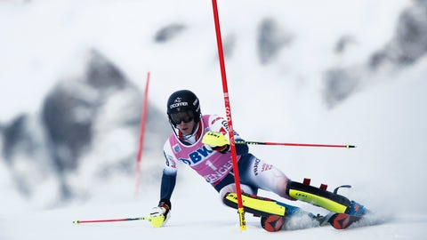 <p>               France's Clement Noel competes during the first run of an alpine ski, men's World Cup slalom in Wengen, Switzerland, Sunday, Jan. 19, 2020. (AP Photo/Gabriele Facciotti)             </p>
