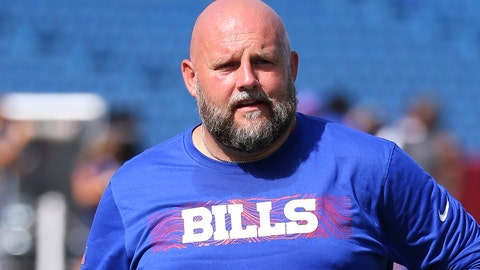 <p>               FILE - In this Sept. 16, 2018, file photo, Buffalo Bills offensive coordinator Brian Daboll walks off the field prior to the game against the Los Angeles Chargers, in Orchard Park, N.Y. After taking a short break, the Browns are resuming their coaching search by interviewing Bills offensive coordinator Brian Daboll, who previously worked in Cleveland. (AP Photo/Rich Barnes, File)             </p>