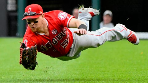 <p>               File-This Sept. 8, 2019, file photo shows Los Angeles Angels right fielder Kole Calhoun (56) catching a ball hit by Chicago White Sox's James McCann during the seventh inning of a baseball game in Chicago. The Arizona Diamondbacks announced Monday, Dec. 30, 2019, that they have signed Calhoun to a two-year contract with a club option for 2022. The 32-year-old Calhoun, who lives in nearby Tempe, Arizona, has played eight major league seasons with the Los Angeles Angels, batting .249 in his career with 140 homers. In 2019, he hit .232 with a career-high 33 homers while playing mostly right field. (AP Photo/Matt Marton,File)             </p>