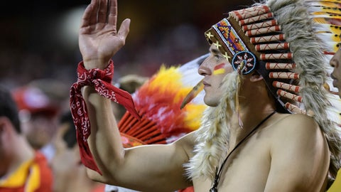 "<p>               FILE - In this Oct. 2, 2017, file photo, a Kansas City Chiefs fan does the ""tomahawk chop"" during the second half of an NFL football game in Kansas City, Mo. While other sports teams using Native American nicknames and imagery have faced decades of protests and boycotts, the Chiefs have largely slid under the radar. Vincent Schilling, associate editor of Indian Country Today, said it's time for the Chiefs to face the music. ""When I see something like a tomahawk chop, which is derived from television and film portrayals, I find it incredibly offensive because it is an absolutely horrible stereotype of what a native person is."" (AP Photo/Reed Hoffmann, File)             </p>"