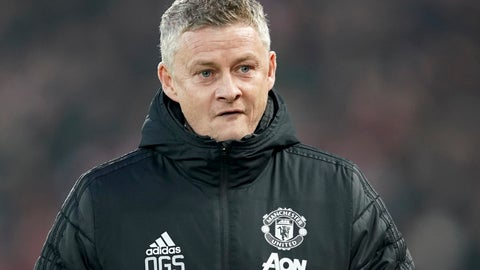 <p>               Manchester United's manager Ole Gunnar Solskjaer arrives for the English Premier League soccer match between Liverpool and Manchester United at Anfield Stadium in Liverpool, Sunday, Jan. 19, 2020.(AP Photo/Jon Super)             </p>