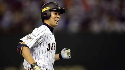 <p>               FILE -In this Nov. 21, 2015, file photo, Japan's Shogo Akiyama rounds third base after hitting two-run home run against Mexico in the seventh inning to end their third-place game at the Premier12 world baseball tournament at Tokyo Dome in Tokyo. Akiyama has agreed to a $21 million, three-year deal with the Cincinnati Reds, the only major league team that has not had a player born in Japan. Akiyama, 31, became a free agent after his ninth season with the Seibu Lions in Japan's Pacific League, where he was a five-time All-Star. (AP Photo/Toru Takahashi, File)             </p>