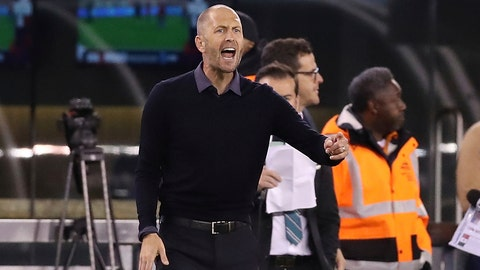 <p>               FILE - In this Friday, Sept. 6, 2019 file photo, United States head coach Gregg Berhalter shouts instructions to his team during an international friendly soccer match against the Mexico in East Rutherford, N.J. United States coach Gregg Berhalter is optimistic his team will train in Doha at some point before that nation hosts the 2022 World Cup. The American men U.S. planned to train at the Aspire Academy from Jan. 5-25 but the U.S. Soccer Federation called off the trip after a U.S. military air strike killed a top Iranian military commander. The camp was relocated to IMG Academy in Bradenton, Florida, where the team held a two-hour workout on Tuesday, Jan. 7, 2020.  (AP Photo/Steve Luciano, File)             </p>