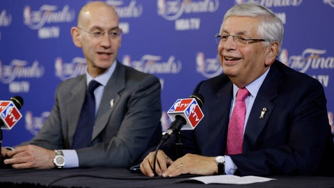 <p>               FILE - In this Thursday, June 6, 2013 file photo, David Stern, NBA Commissioner, right, and Adam Silver, Deputy Commissioner, speak before the start of Game 1 of the NBA Finals basketball game between the San Antonio Spurs and Miami Heat in Miami. David Stern, who spent 30 years as the NBA's longest-serving commissioner and oversaw its growth into a global power, has died on New Year's Day, Wednesday, Jan. 1, 2020. He was 77. (AP Photo/Wilfredo Lee, File)             </p>