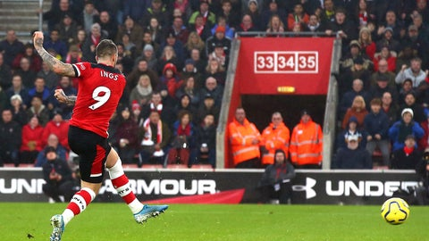 <p>               Southampton's Danny Ings scores his side's first goal of the game, during the English Premier League soccer match between Southampton and Tottenham Hotspur at St Mary's Stadium, in Southampton, England, Wednesday Jan. 1, 2020. (Mark Kerton/PA via AP)             </p>