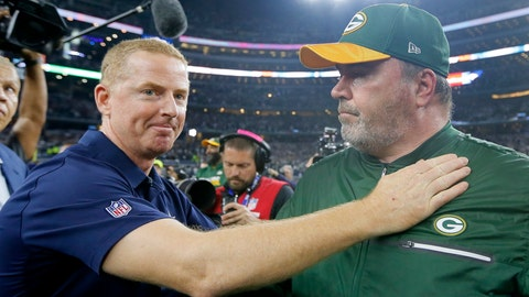 <p>               FILE - In this Jan. 15, 2017, file photo, Dallas Cowboys coach Jason Garrett, left, congratulates Green Bay Packers coach Mike McCarthy after their 34-31 win in an NFL divisional playoff football game in Arlington, Texas. The Dallas Cowboys didn't take long to settle on Mike McCarthy as their coach after waiting a week to announce they were moving on from Jason Garrett. McCarthy, who won a Super Bowl at the home of the Cowboys nine years ago as Green Bay's coach, has agreed to become the ninth coach in team history, a person with direct knowledge of the deal said Monday, Jan. 6, 2020.The person spoke to The Associated Press on condition of anonymity because the team hasn't announced the move. (AP Photo/Tony Gutierrez, File)             </p>