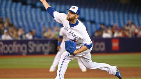 <p>               FILE - In this June 28, 2019, file photo, Toronto Blue Jays' David Phelps pitches against the Kansas City Royals during the sixth inning of a baseball game in Toronto. Free agent Phelps and the Milwaukee Brewers finalized a one-year contract on Thursday, Jan. 30, 2020, that guarantees $1.5 million and includes a club option for 2021. (Jon Blacker/The Canadian Press via AP, File)             </p>