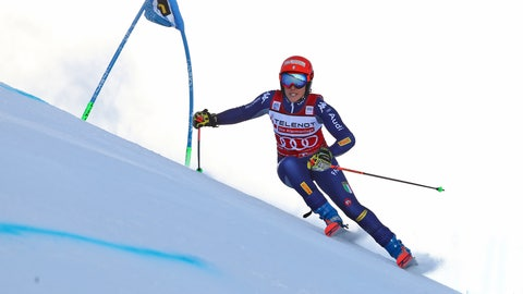 <p>               Italy's Federica Brignone competes during the first run of an alpine ski, World Cup women's giant slalom in Sestriere, Italy, Saturday, Jan. 18, 2020. (AP Photo/Marco Trovati)             </p>