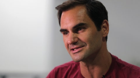 <p>               FILE - In this Sunday, Dec. 15, 2019, file photo, Roger Federer talks to an Associated Press reporter in Dubai, United Arab Emirates. Federer figures Rafael Nadal and Novak Djokovic both will surpass his men's record for Grand Slam titles. Federer also says he's OK with that because he had his moment on top. (AP Photo/Kamran Jebreili, File)             </p>