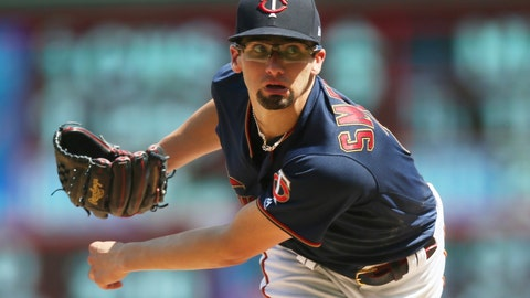 <p>               FILE - In this Aug. 4, 2019, file photo, Minnesota Twins pitcher Devin Smeltzer watches a pitch against the Kansas City Royals in the sixth inning of a baseball game in Minneapolis. The Twins remain publicly confident in the rotation anchored by returning veterans Jose Berrios and Jake Odorizzi and supplemented by youngsters like Smeltzer, Randy Dobnak and Lewis Thorpe. (AP Photo/Jim Mone, File)             </p>