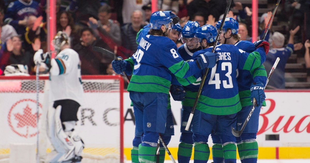 Pearson leads Canucks past Sharks and into 1st in Pacific | FOX Sports