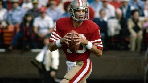 <p>               FILE - This is a 1981 file photo showing San Francisco 49ers NFL football quarterback Joe Montana. Soon after the Super Bowl matchup was set, Hall of Famer Joe Montana went to Twitter to send out a picture of his framed jerseys for the Kansas City Chiefs and the San Francisco 49ers. Montana won four Super Bowl titles in 14 years with the 49ers before finishing his career with two seasons on the Chiefs when he made one trip to the AFC championship game.(AP Photo/File)             </p>
