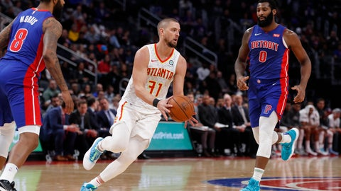 """<p>               FILE - In this Nov. 22, 2019, file photo, Atlanta Hawks forward Chandler Parsons (31) passes the ball during the second half of an NBA basketball game against the Detroit Pistons in Detroit. Parsons' attorneys say the Hawks forward suffered """"severe and permanent injuries"""" in a car wreck last week that could jeopardize his career. (AP Photo/Carlos Osorio, File)             </p>"""