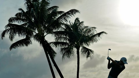 <p>               Collin Morikawa hits from the 17th tee during the second round of the Sony Open PGA Tour golf event, Friday, Jan. 10, 2020, at Waialae Country Club in Honolulu. (AP Photo/Matt York)             </p>
