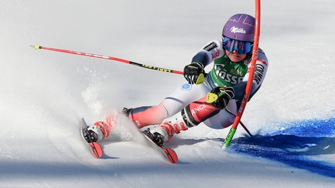 <p>               France's Tessa Worley competes in an alpine ski, women's World Cup giant slalom, in Lienz, Austria, Saturday, Dec. 28, 2019. (AP Photo/Piermarco Tacca)             </p>