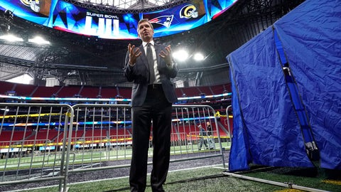 <p>               FILE - In this Tuesday, Jan. 29, 2019 file photo, NFL Chief Medical Officer Dr. Allen Sills explains what takes place inside a sideline injury tent, right, during a health and safety tour at Mercedes-Benz Stadium for the NFL Super Bowl 53 football game in Atlanta.  Everyone who has watched an NFL player disappear into that medical tent on a sideline has an idea of what happens once the flap folds down. The NFL shares a look Tuesday, Jan. 28, 2020 inside the tent and game-day procedures designed to help when someone is hurt. (AP Photo/David J. Phillip, File)             </p>