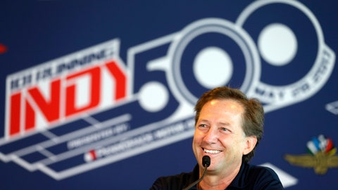 <p>               FILE- In this May 18, 2017, file photo, former race car driver John Andretti speaks during a press conference at Indianapolis Motor Speedway in Indianapolis. Andretti, a member of one of racing's most families, has died following a battle with colon cancer, Andretti Autosports announced Wednesday, Jan. 30, 2020. He was 56.  (AP Photo/Michael Conroy, File)             </p>