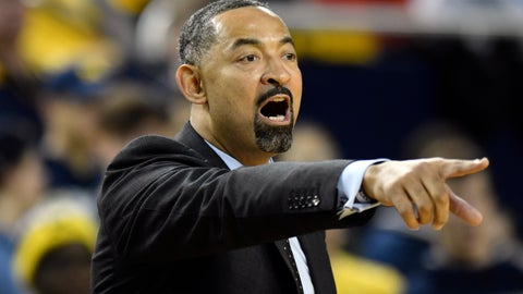 <p>               Michigan head coach Juwan Howard gives instructions to his team as they played against UMass-Lowell during the first half of an NCAA college basketball game, Sunday, Dec. 29, 2019, in Ann Arbor, Mich. (AP Photo/Jose Juarez)             </p>