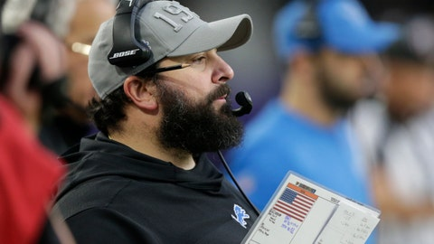<p>               Detroit Lions head coach Matt Patricia watches from the sideline during the first half of an NFL football game against the Minnesota Vikings, Sunday, Dec. 8, 2019, in Minneapolis. (AP Photo/Andy Clayton-King)             </p>