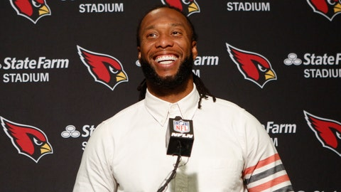 <p>               FILE - In this Oct. 6, 2019, file photo, Arizona Cardinals wide receiver Larry Fitzgerald attends a news conference after winning an NFL football game against the Cincinnati Bengals, in Cincinnati. Fitzgerald is coming back to the team for the 2020 season. There was speculations the 36-year-old Fitzgerald might retire, but the team announced Wednesday, Jan. 15, 2020, he has signed a one-year contract. (AP Photo/Frank Victores, File)             </p>