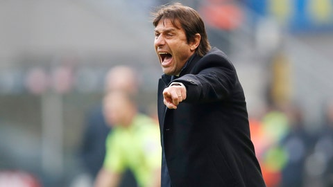 <p>               Inter Milan's head coach Antonio Conte gives instructions during the Serie A soccer match between Inter Milan and Cagliari at the San Siro Stadium, in Milan, Italy, Sunday, Jan. 26, 2020. (AP Photo/Antonio Calanni)             </p>