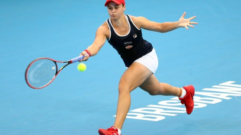 <p>               FILE - In this Jan. 9, 2020, file photo, Ashleigh Barty, of Australia, plays a shot during her match against Jennifer Brady, of the United States, at the Brisbane International tennis tournament in Brisbane, Australia. Barty will be competing in the Australian Open tennis tournament, beginning Monday, Jan. 20, 2020. (AP Photo/Tertius Pickard, File)             </p>