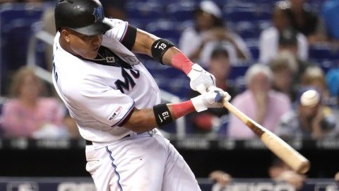 <p>               FILE - In this Aug. 15, 2019, file photo, Miami Marlins' Starlin Castro hits an RBI single to score Brian Anderson during the sixth inning of a baseball game against the Los Angeles Dodgers, in Miami. Infielder Starlin Castro finalized a two-year contract with the Washington Nationals on Tuesday, Jan. 7, 2020, one of a flurry of recent moves by the World Series champions. Castro's deal gives the club someone who can start at second base and maybe also play some at third, where Anthony Rendon left as a free agent. (AP Photo/Lynne Sladky, File)             </p>