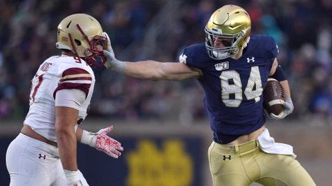 New England Patriots — Cole Kmet, TE, Notre Dame (NR)