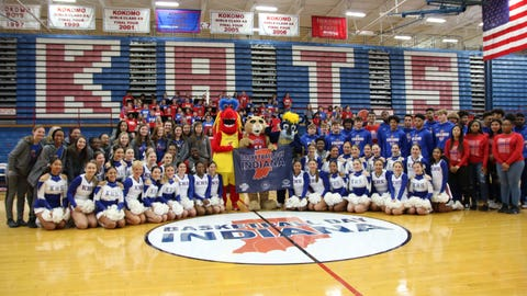 A big crowd was on hand for the Jan. 8 announcement of Kokomo High School's Memorial Gymnasium as the host for Basketball Day Indiana 2020.