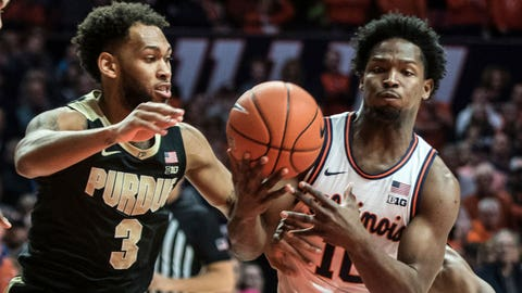 Jahaad Proctor and the Boilermakers never led in the loss to Illinois. AP