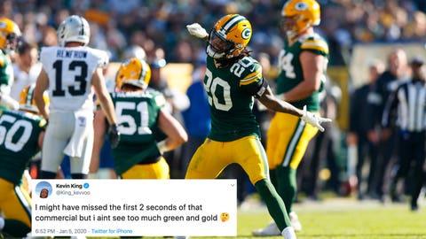 Kevin King, Packers cornerback
