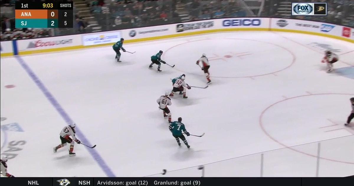 HIGHLIGHTS: Ducks struggle with Sharks, lose 4-2