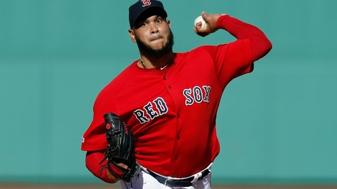 <p>               FILE - In this Sunday, Sept. 29, 2019 file photo, Boston Red Sox's Eduardo Rodriguez pitches during the first inning of a baseball game against the Baltimore Orioles in Boston. Boston pitcher Eduardo Rodríguez argued his case Wednesday, Feb. 12, 2020 asking for a raise to $8,975,000 rather than the $8.3 million offer of the Red Sox. A right-hander who turns 27 in April, Rodríguez was a career-best 19-6 with a 3.81 ERA in 34 starts last season, when he made $4,325,000. He is eligible for free agency after the 2021 season.(AP Photo/Michael Dwyer, File)             </p>