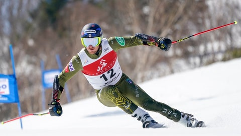 <p>               Ted Ligety of the United States competes in the men's giant slalom during the FIS Alpine Ski World Cup at Naeba Ski Resort in Yuzawa, Niigata prefecture, northern Japan, Saturday, Feb. 22, 2020. (AP Photo/Christopher Jue)             </p>