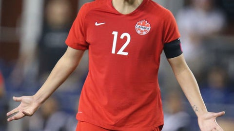 <p>               Canada's Christine Sinclair shouts to a teammate during a CONCACAF women's Olympic qualifying soccer match against Mexico on Tuesday, Feb. 4, 2020, in Edinburg, Texas. (AP Photo/Delcia Lopez)             </p>