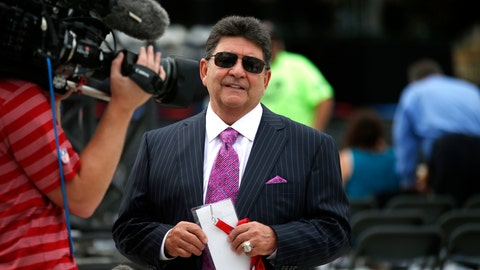 <p>               FILE - In this Aug. 8, 2015, file photo former owner of the San Francisco 49ers Edward DeBartolo, Jr., is interviewed before the Pro Football Hall of Fame ceremony at Tom Benson Hall of Fame Stadium in Canton, Ohio. President Donald Trump pardoned DeBartolo, who is convicted in gambling fraud scandal. (AP Photo/Gene J. Puskar, File)             </p>