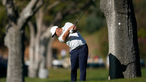 <p>               Brooks Koepka hits his second shot from the rough on the first hole during the final round of the Genesis Invitational golf tournament at Riviera Country Club, Sunday, Feb. 16, 2020, in the Pacific Palisades area of Los Angeles. (AP Photo/Ryan Kang)             </p>