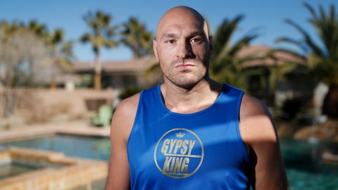 <p>               In this Thursday, Feb. 13, 2020, photo, boxer Tyson Fury poses for a portrait in Las Vegas. Fury is scheduled to fight a heavyweight rematch with WBC champion Deontay Wilder on Saturday in Las Vegas. (AP Photo/John Locher)             </p>